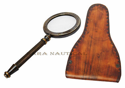 Nautical Brass Henry Hughes Magnifying Reader Magnifying Glass Office/Motel