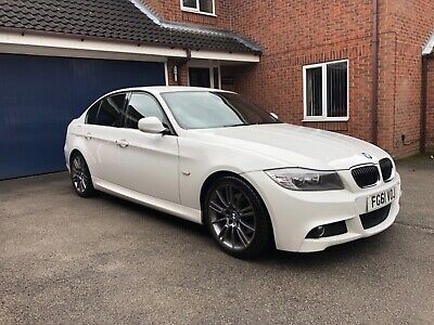 2011 61 Bmw 320D M Sport Plus White Saloon Widescreen Sat Nav Full Leather Auto