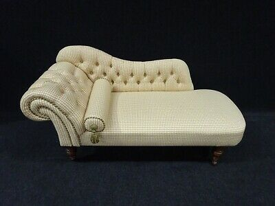 Victorian Mahogany Chaise Lounge Newly Upholster Stunning Example