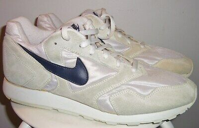 low priced 05de6 2ac71 VTG 1993 NIKE DECADE HEAVENS GATE (WHT  NVY) FOLLOW ME RUNNING SHOES 13