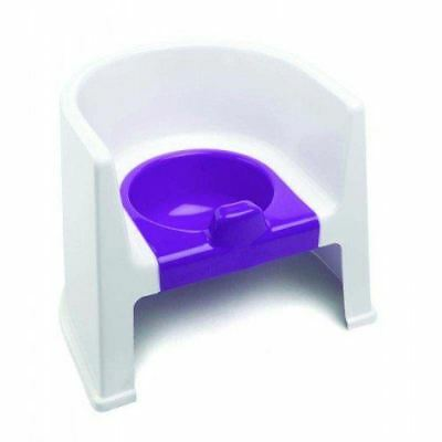 Neat Nursery Potty Chair - White/Plum Brand New Toddler Baby Potty Training NEW