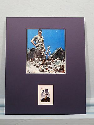 Norman Rockwell -  The Scoutmaster honored by the Boy Scout stamp