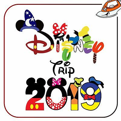 Trip 2019 Mickey Mouse Style Iron On T Shirt Transfer Vinyl Printed Sticker