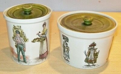 HOLKHAM POTTERY Pots x2 - Traditional Street Traders & Trades