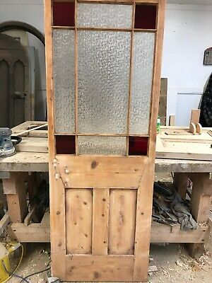 Victorian Stained Glass Door Rare Reclaimed Period Old Antique Vestibule Porch