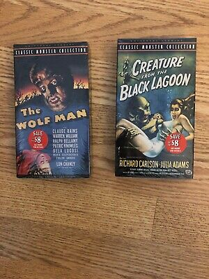 New The Wolf Man And Creature From The Black Lagoon VHS