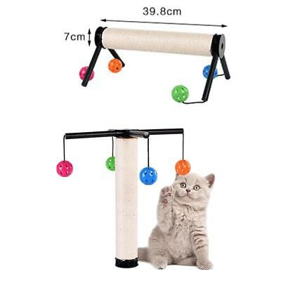 Cat Kitten Scratching Post Tree Sisal Scratcher Scratch Activity Climbing Toy US