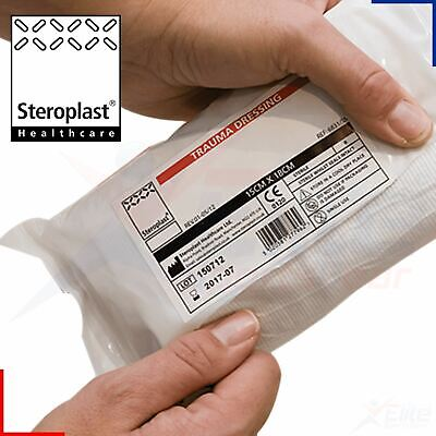 Steroplast Trauma Wound Dressing Haemostatic Field Sterile Injury Bandage