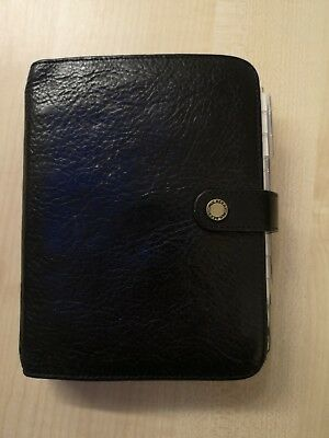 Mulberry Diary agenda black leather with contact insert