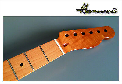 Telecaster Roasted Canadian Maple Neck + Roasted Maple Fretboard, 22 Frets