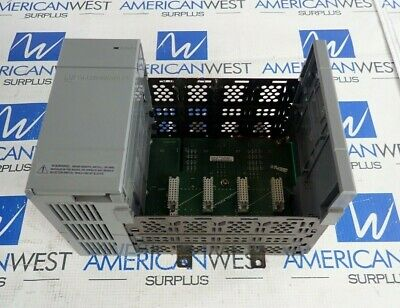 Allen Bradley Slc 500 1746-P1 Ser. A Power Suppy W/ 1746-A4 Ser. B 4 Slot Rack