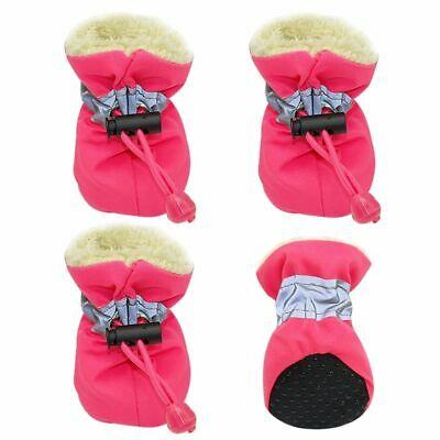 4PCS  Dog Winter Boots Warm Shoes For Pet Waterproof Small Snow Yorkie Fur Cats