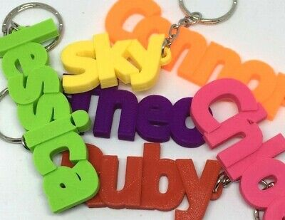 Personalised Chunky Keyrings - Any Name Printed - Including Business Names