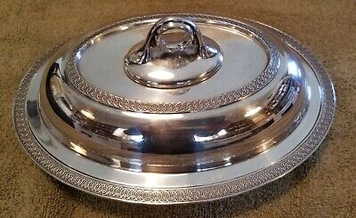 Reed & Barton serving dish with lid #1360 1D