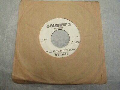 The Tymes Somewhere View From My Window Parkway 45 rpm DJ Copy