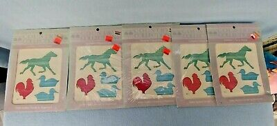 Meyercord Wawter Applied Decals - Horse, Rooster, Ducks - Lot of 6 Packages