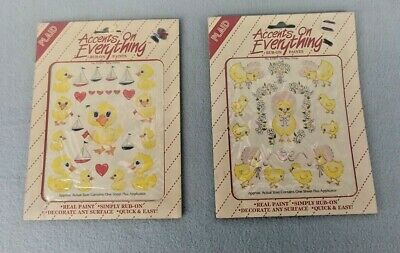 PLAID - Accents on Everything Rub-On Paints - Ducklings - 2 Packs
