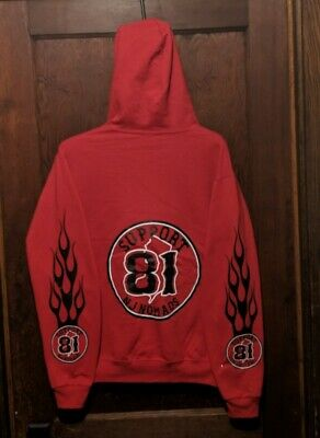 OFFICIAL HELLS ANGELS SUPPORT 81 Nomads Indiana Red Custom