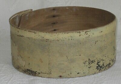 Antique Painted Country Primitive Pantry Box Base Dirty White Nail Construction