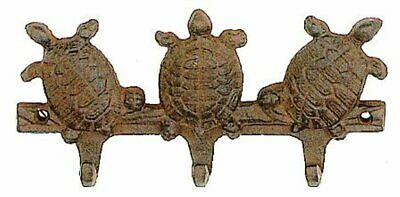 Antique Reproduction Cast Iron Turtle Triple Wall Hook