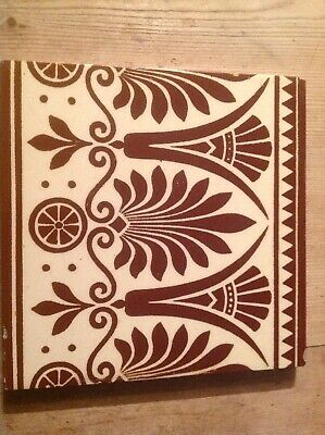 Minton Tile Brown Cream Christopher Dresser Owen Jones pugin