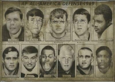 1969 Press Photo Associated Press Football All-American Defensive Team - 1969