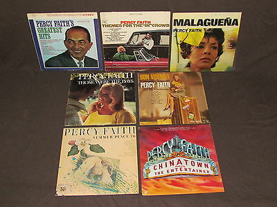 PERCY FAITH 7 LP RECORD ALBUMS LOT COLLECTION Summer Place/Greatest Hits/Themes