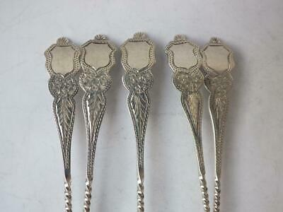 Matching Set of 5 Antique Solid Sterling Silver Coffee Spoons 1912/13/ L 10.3cm