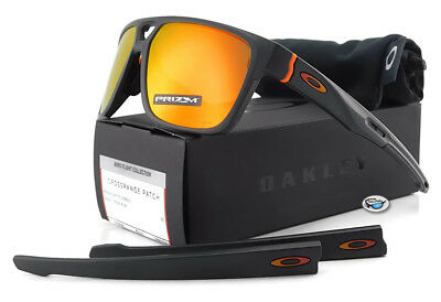 81e38a2789 Oakley CROSSRANGE PATCH Sunglasses Matte Carbon Prizm Ruby Iridium Lens 9382 -09