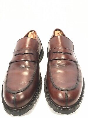 6c45735e5cd Eddie Bauer Penny Loafers Mens Size 10 M Brown Leather Casual Dress Shoes