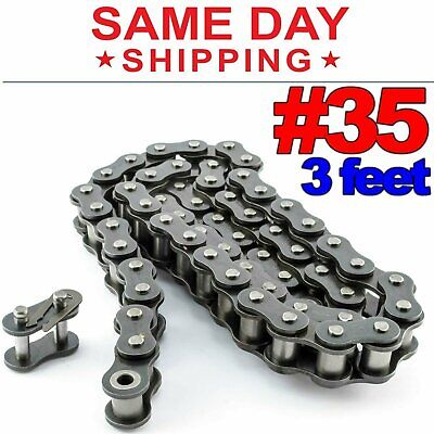 #35 Roller Chain x 3 feet + Free Connecting Links + Same Day Shipping