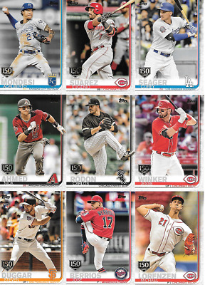 2019 Topps Series 1 150Th Anniversary Parallel Singles***you Pick***
