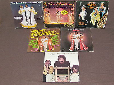 TONY ORLANDO & DAWN 6 LP RECORD ALBUMS LOT COLLECTION Greatest Hits/Prime Time+