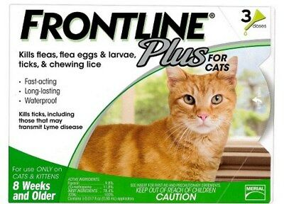 FRONTLINE Plus for Cats (3 Doses) Sealed