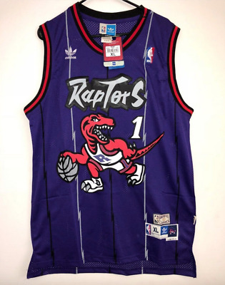 Toronto Raptors Tracy Mcgrady Basketball Jersey Purple Throwback Swingman  1 fbb81e14e