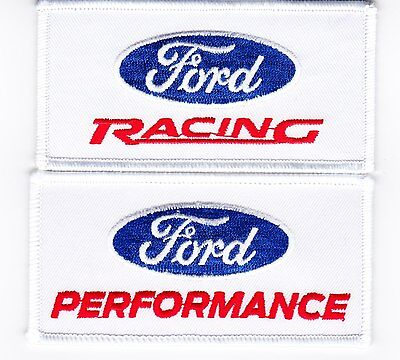 2 Ford Racing Performance Sew/iron On Patch Embroidered Shelby Cobra Mustang Gt