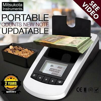 Business Portable Digital Money Cash Notes Coins Money Counter Scales Sorter