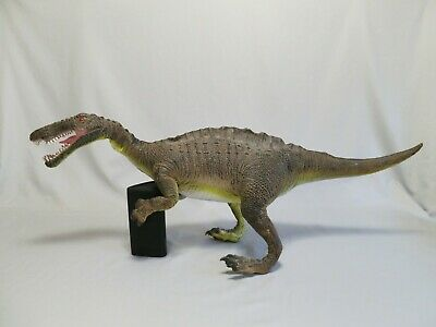 Large Discovery Channel Suchomimus Dinosaur Toy, Soft Rubber Figure, RARE