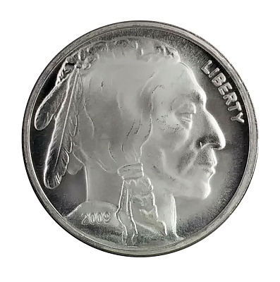 2009 USA Buffalo Indian Head 1oz Fine Silver (.999 ) Round BU Coin ( BR03 )