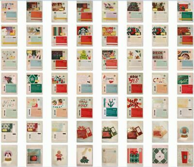 YOU CHOOSE 2018 Starbucks Gift Cards from 55 Card Holiday Christmas Set - USA