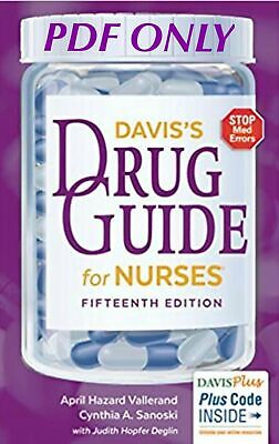 PDF Davis's Drug Guide for Nurses - 15th Edition (Not physical book)