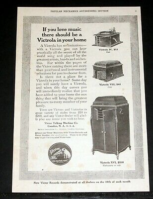 1914 Old Magazine Print Ad, Victor, If You Love Music, A Victrola In Your Home!