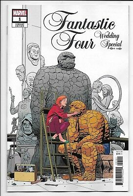 Marvel Comics FANTASTIC FOUR WEDDING SPECIAL #1 first printing 1:25 variant