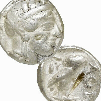 ATHENA Owl ATTIC Tetradrachm Athens Greece 440 BC VF Ancient Greek Silver Coin