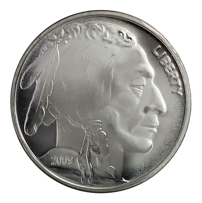 2009 USA Buffalo Indian Head 1oz Fine Silver (.999 ) Round BU Coin ( BR05 )