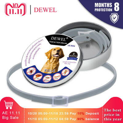 Flea and Tick Collar For Cats and Small Dogs Under 8kg (18 lbs)