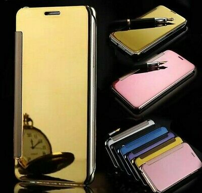 Back Covers For OnePlus 3 3T Mirror Screen Clear View Flip Phone Cases Accessory