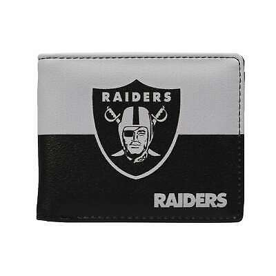 Oakland Raiders Mens Leather Bi-fold Wallet Colorful NFL Football Licensed