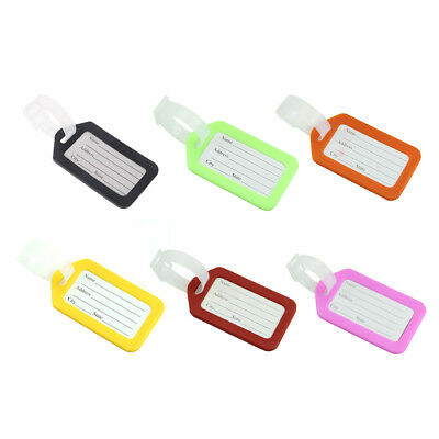 2 Pcs Luggage Tags Labels Straps Striped Name Address ID Bag Suitcase Travel