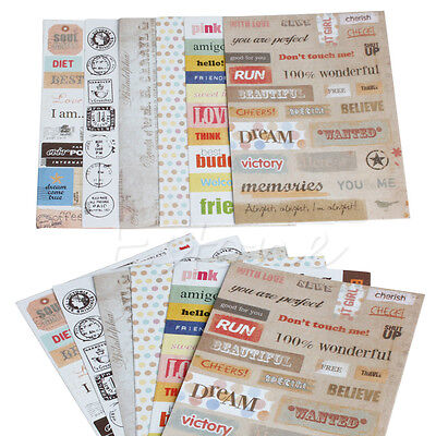6Pcs DIY Calendar Paper Sticker For Scrapbooking Diary Planner Photo Album Decor
